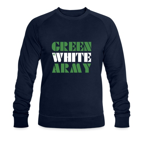 GREEN & WHITE ARMY - Men's Organic Sweatshirt by Stanley & Stella