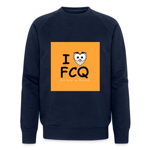 I Love FCQ button orange - Männer Bio-Sweatshirt von Stanley & Stella
