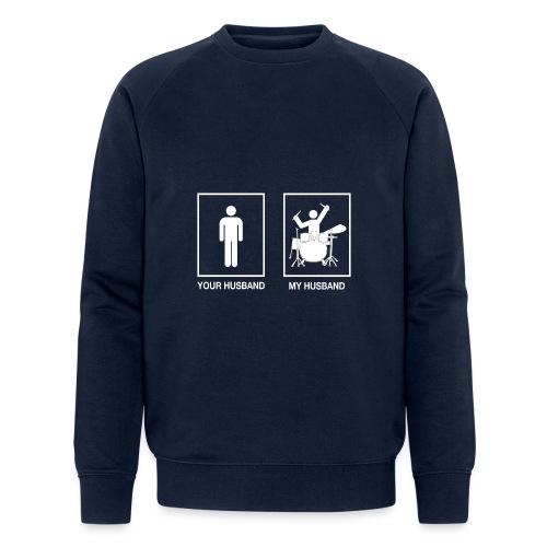 My Husband female white - Mannen bio sweatshirt