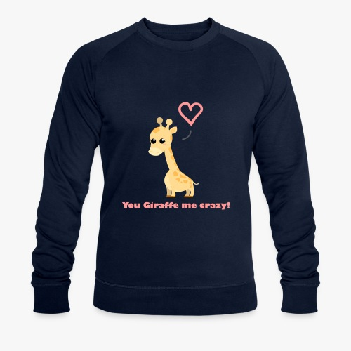 Giraffe Me Crazy - Økologisk sweatshirt til herrer