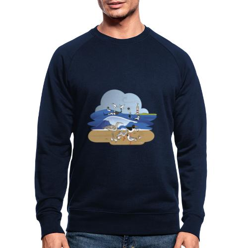 See... birds on the shore - Men's Organic Sweatshirt