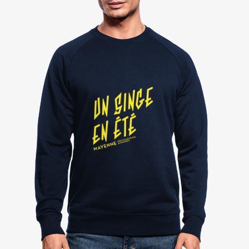 LOGO baseline jaune - Sweat-shirt bio