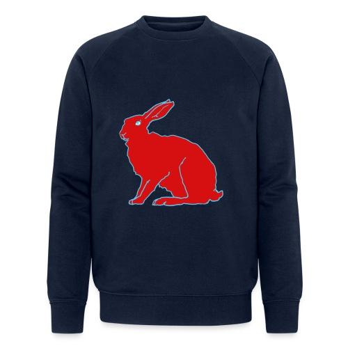 Roter Hase - Männer Bio-Sweatshirt von Stanley & Stella
