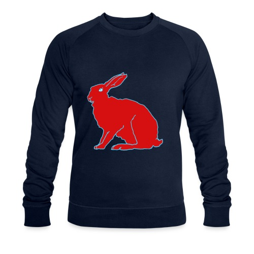 Roter Hase - Männer Bio-Sweatshirt