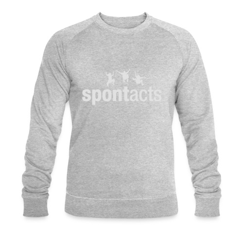 spontacts_Logo_weiss - Männer Bio-Sweatshirt