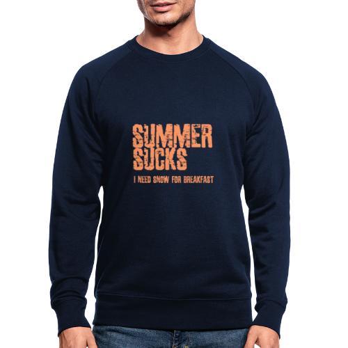 SUMMER SUCKS - Mannen bio sweatshirt