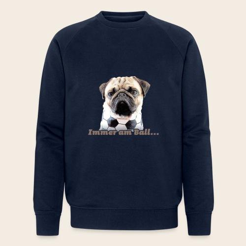 Mops am Ball 2 - Männer Bio-Sweatshirt