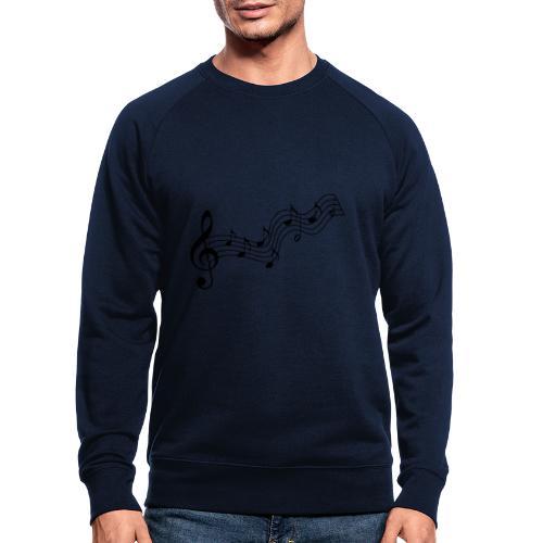 Musiknoten - Männer Bio-Sweatshirt