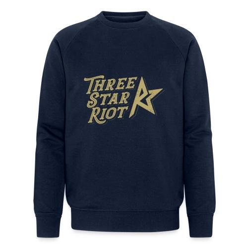 Three Star Riot logo väri - Miesten luomucollegepaita
