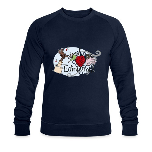 I love Edinburgh - Men's Organic Sweatshirt by Stanley & Stella