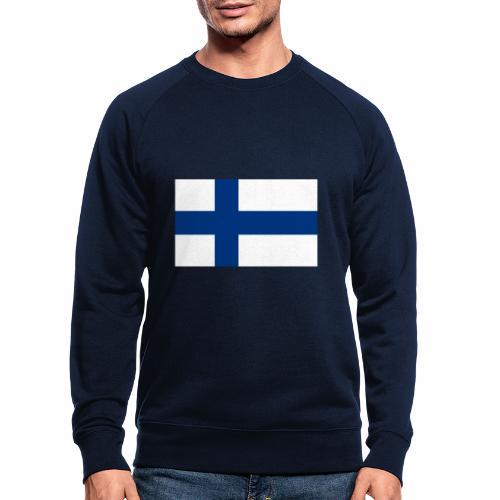 Suomenlippu - tuoteperhe - Miesten luomucollegepaita