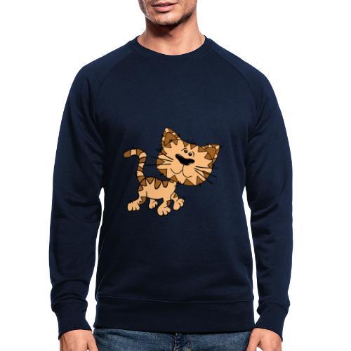 Cat - Männer Bio-Sweatshirt