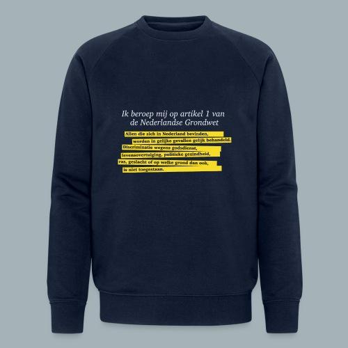 Nederlandse Grondwet T-Shirt - Artikel 1 - Mannen bio sweatshirt van Stanley & Stella