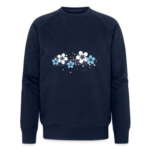 white and blue floral print - Ekologiczna bluza męska Stanley & Stella