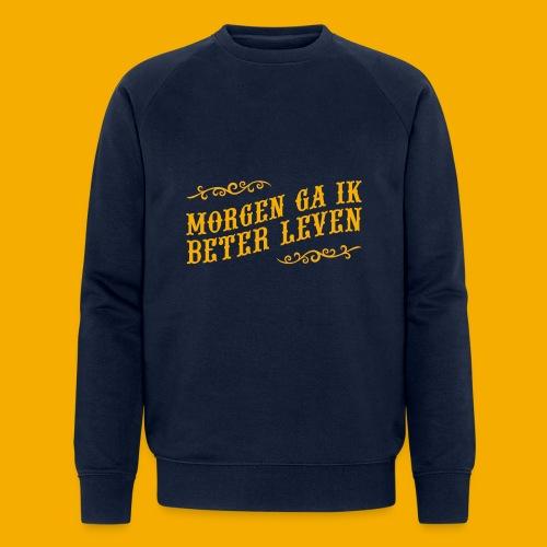 tshirt yllw 01 - Mannen bio sweatshirt