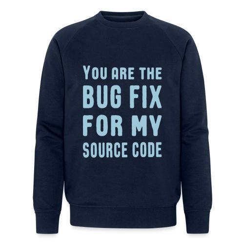 Programmierer Beziehung Liebe Source Code Spruch - Männer Bio-Sweatshirt von Stanley & Stella