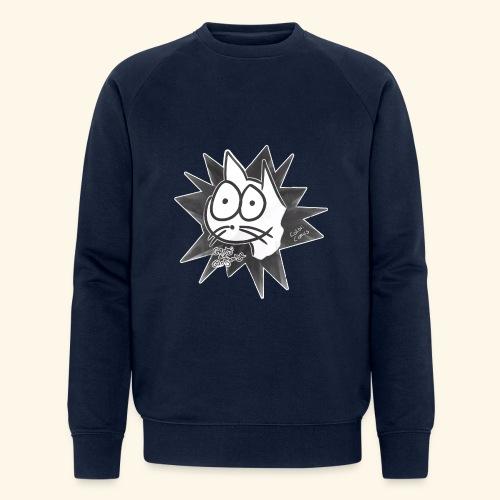 Glotzi die Glotzkatze - Männer Bio-Sweatshirt von Stanley & Stella