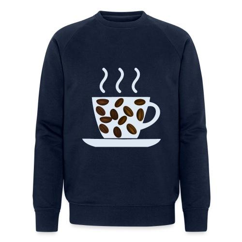 grey cup cofee with beans - Felpa ecologica da uomo di Stanley & Stella