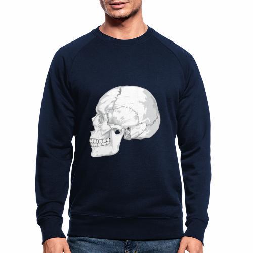 Schädel - Männer Bio-Sweatshirt