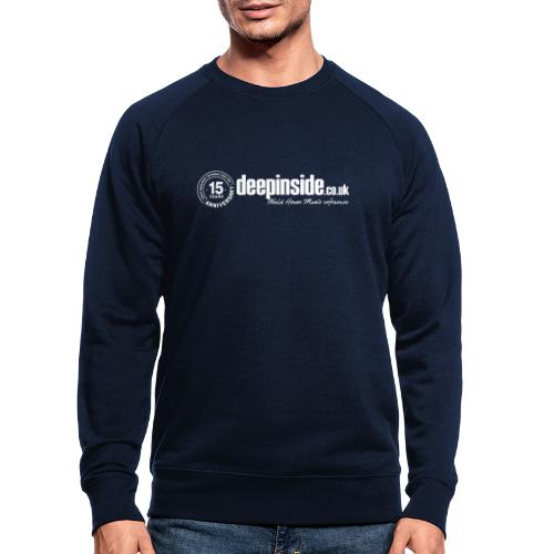 15 years anniversary logo white - Men's Organic Sweatshirt