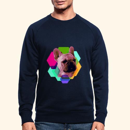 French Bulldog head - Sweat-shirt bio