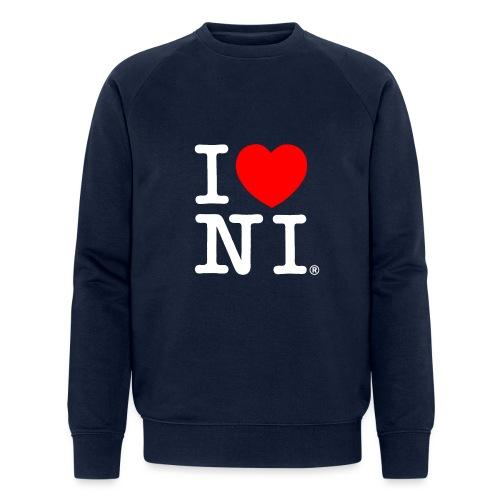 I love NI - Men's Organic Sweatshirt by Stanley & Stella