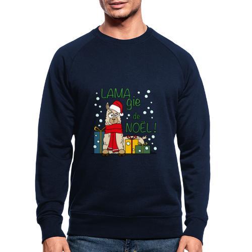 Lama, Magie de Noël, Happy Christmas, Pull moche - Sweat-shirt bio