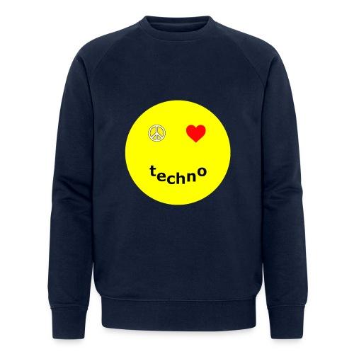camiseta paz amor techno - Sudadera ecológica hombre