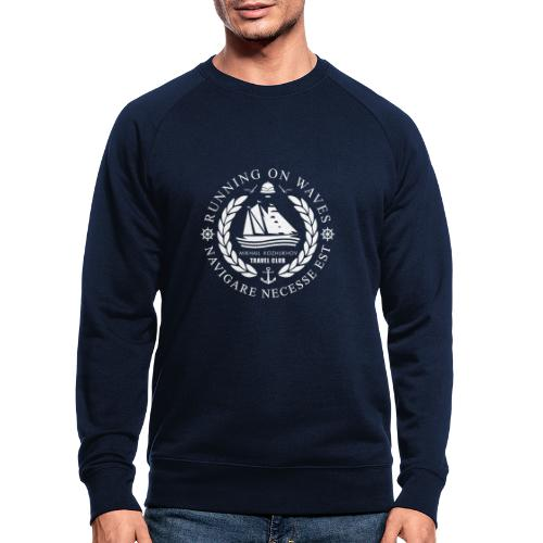 RUNNING ON WAVES (white) - Men's Organic Sweatshirt