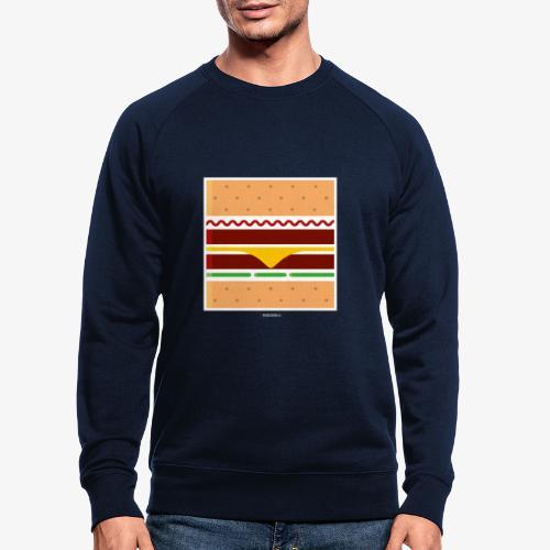 Square Burger - Felpa ecologica da uomo