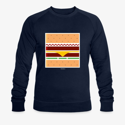 Square Burger - Felpa ecologica da uomo di Stanley & Stella