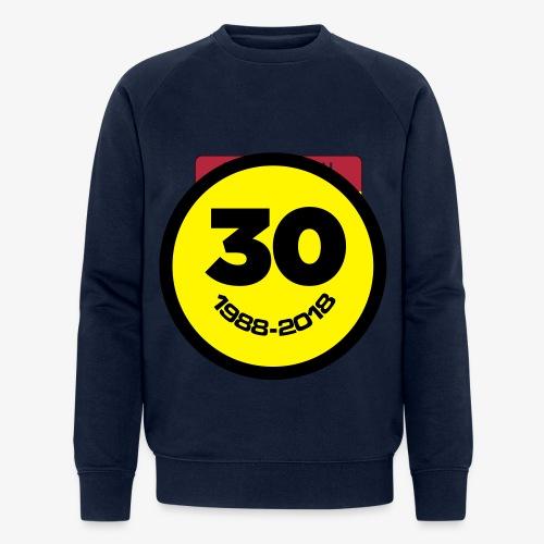 30 Jaar Belgian New Beat Smiley - Mannen bio sweatshirt van Stanley & Stella