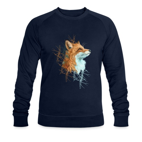Happy the Fox - Männer Bio-Sweatshirt