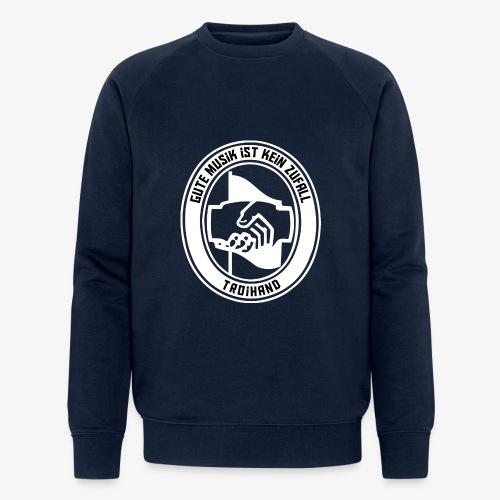 Logo Troihand invertiert - Männer Bio-Sweatshirt