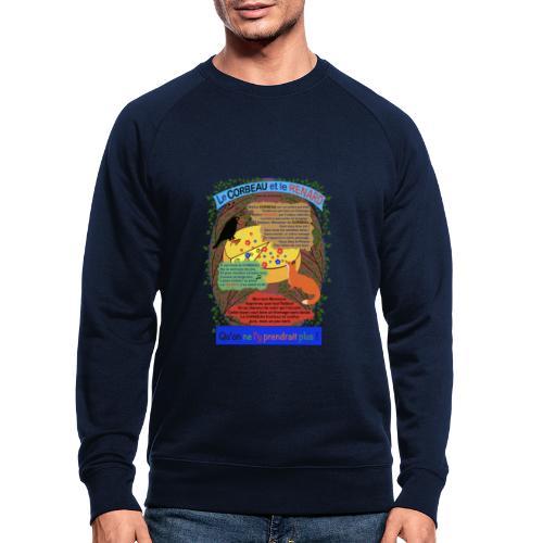 Le Corbeau et le Renard (Jean de la Fontaine) - Männer Bio-Sweatshirt