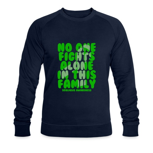 Scoliosis No One Fights Alone in this Family - Men's Organic Sweatshirt by Stanley & Stella