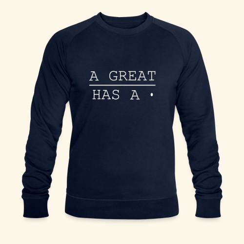 A great line has a point - Men's Organic Sweatshirt by Stanley & Stella