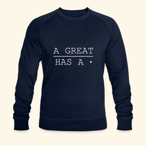 A great line has a point - Men's Organic Sweatshirt by Stanley & Stella