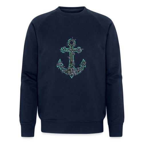 Cyber Anker Tshirt ✅ Elektro Anker Tshirt - Männer Bio-Sweatshirt von Stanley & Stella