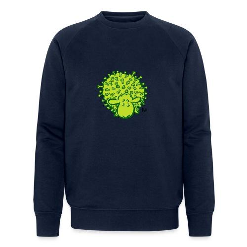 Virus får - Økologisk sweatshirt til herrer
