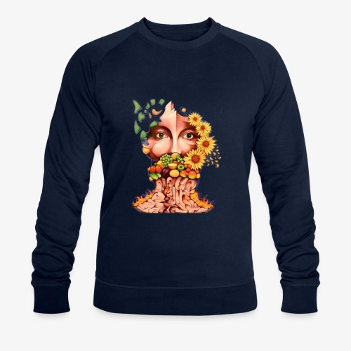 Fruit & Flowers - Men's Organic Sweatshirt