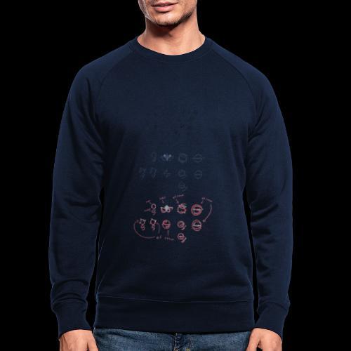 Overscoped concept logos - Men's Organic Sweatshirt