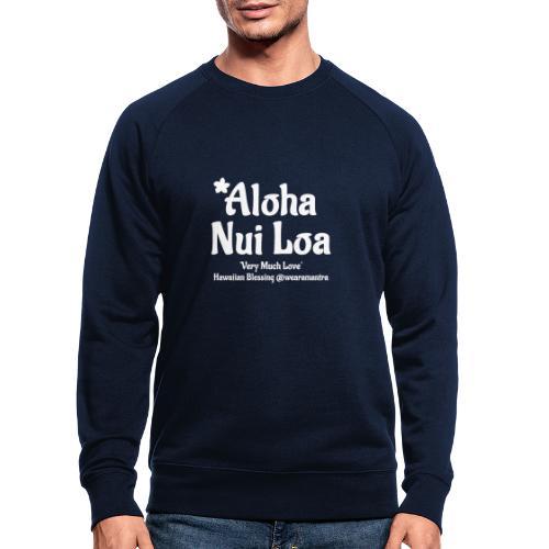 Aloha Nui Loa 2 white - Felpa ecologica da uomo
