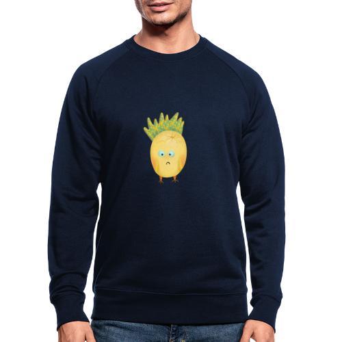 Verlegenes schielendes Vogelei Monster - Männer Bio-Sweatshirt