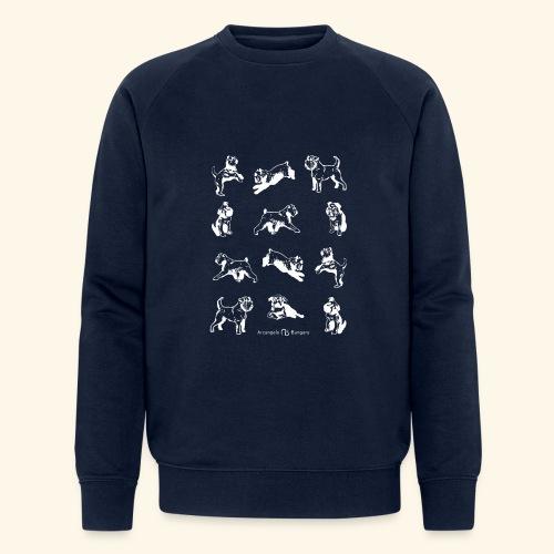 Brussel Griffon Pattern white - Sweat-shirt bio Stanley & Stella Homme