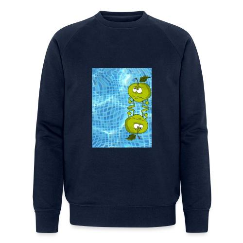 angry appel - Mannen bio sweatshirt