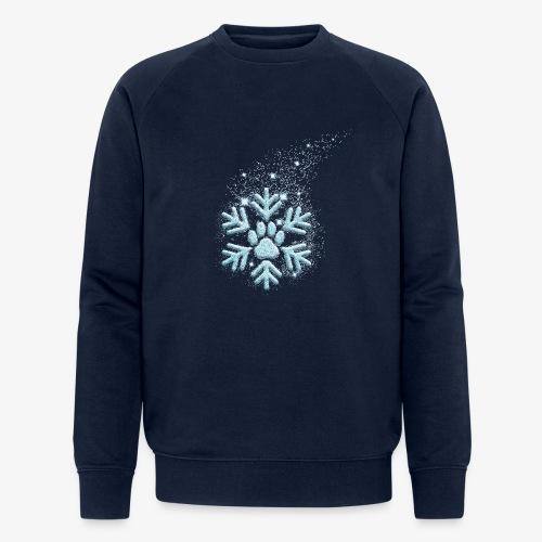 dog paw snowflake - Männer Bio-Sweatshirt von Stanley & Stella