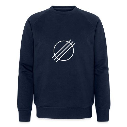 DJ Øyvind Offisiell Logo (hvit) - Økologisk sweatshirt for menn fra Stanley & Stella