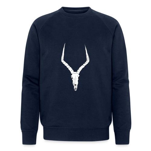 Antelope ANIMAL skull - Men's Organic Sweatshirt by Stanley & Stella