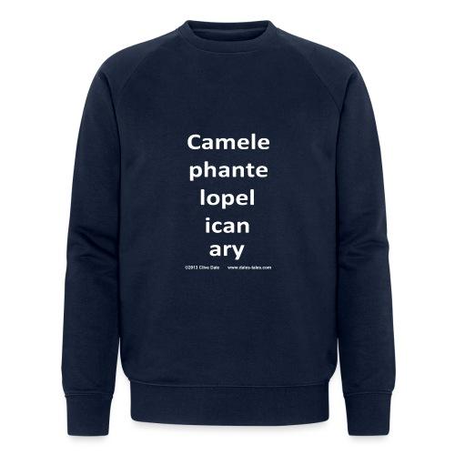 camelepha 5lines white - Men's Organic Sweatshirt